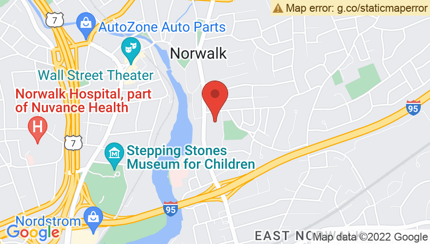 Map for Norwalk Concert Hall