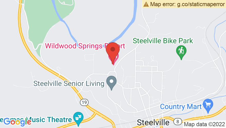 Map for Wildwood Springs Lodge