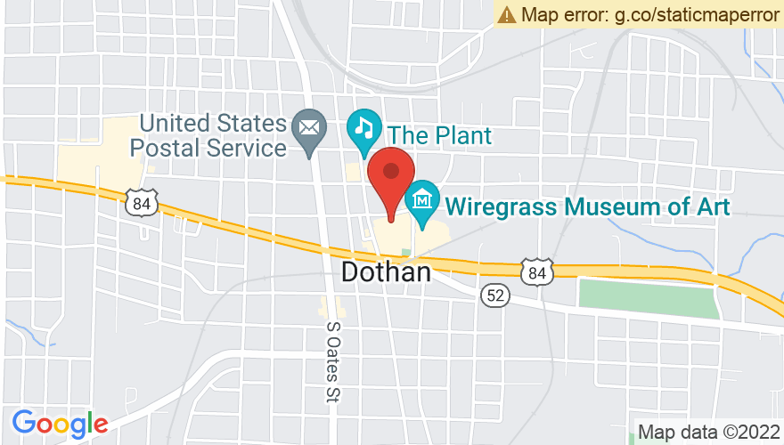 Map for Dothan Civic Center