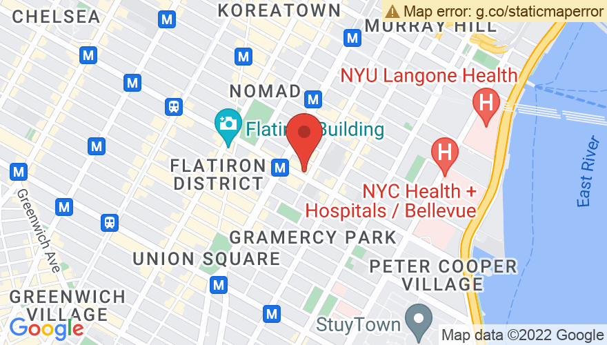 Map for The Gramercy Theatre