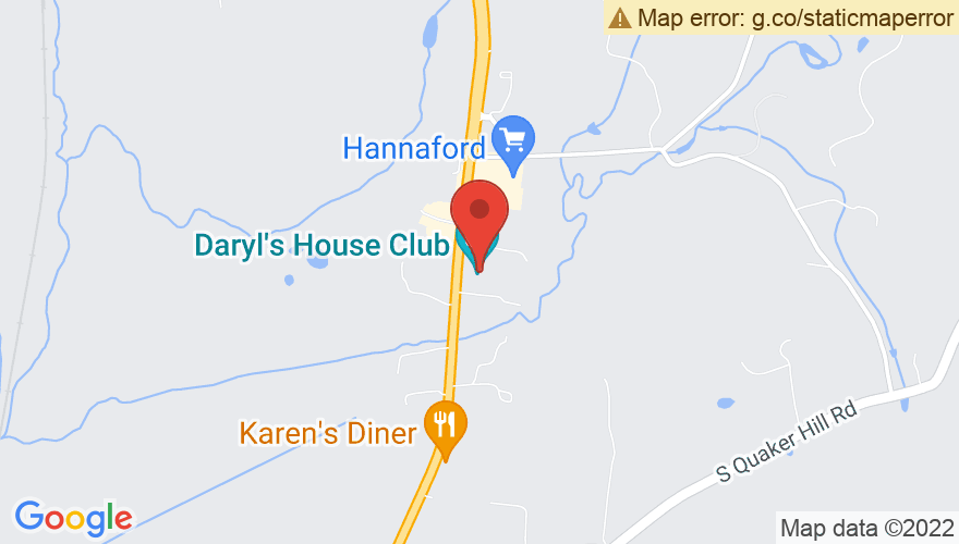 Map for Daryl's House Restaurant & Music Club