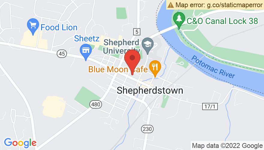 Map for Shepherdstown Opera House
