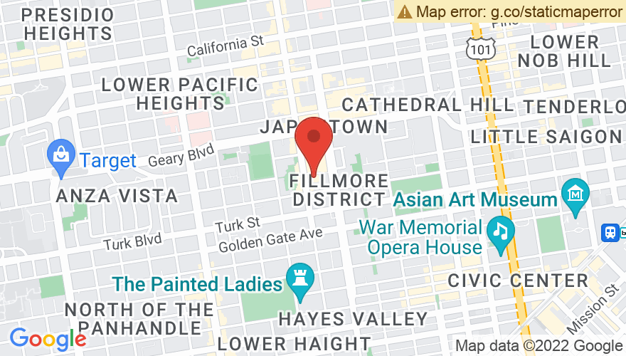 Map for The Addition (formerly Yoshi's San Francisco)