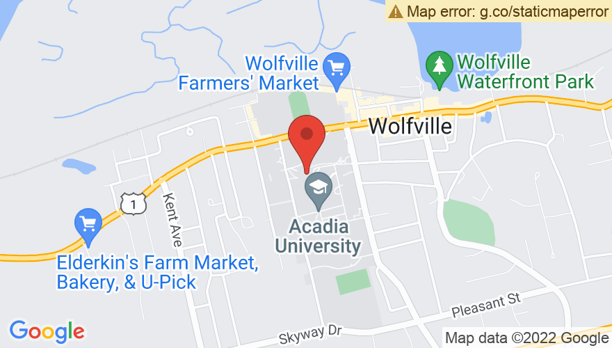 Map for Acadia University Convocation Hall
