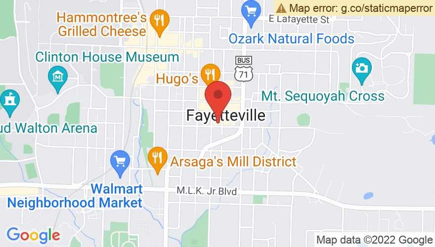 Map for Fayetteville Town Center