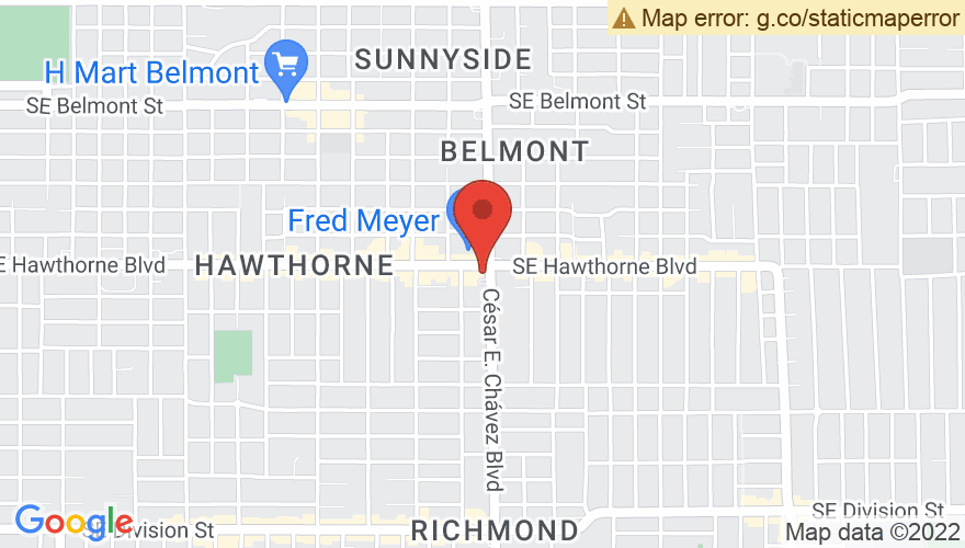 Map for Hawthorne Theatre