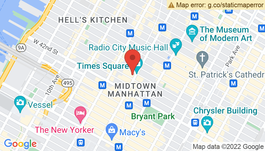 Map for PlayStation Theater