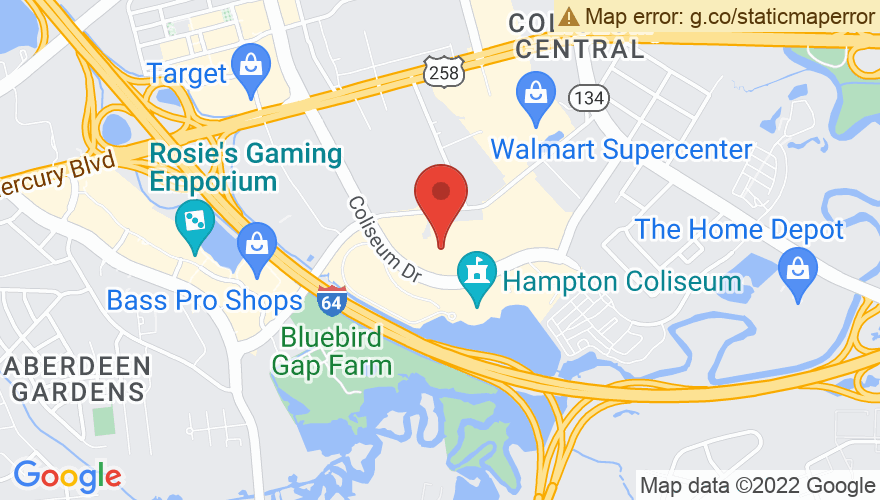 Map for Hampton Roads Convention Center