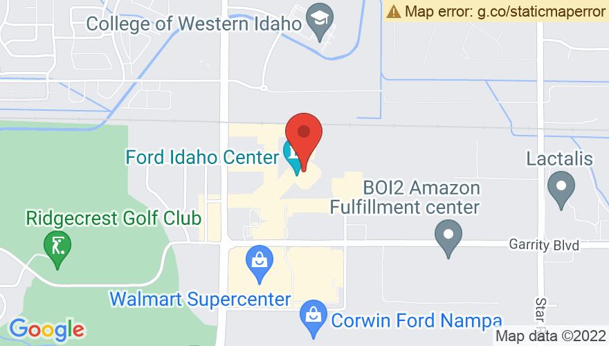 Map for Ford Idaho Center Amphitheater