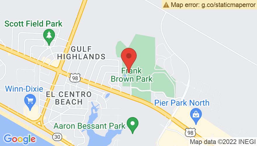 Map for Frank Brown Park