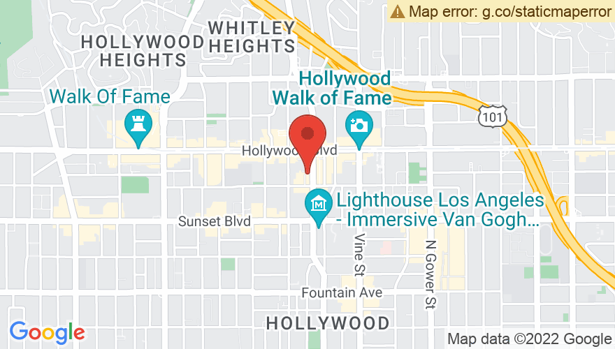 Map for The Hotel Cafe