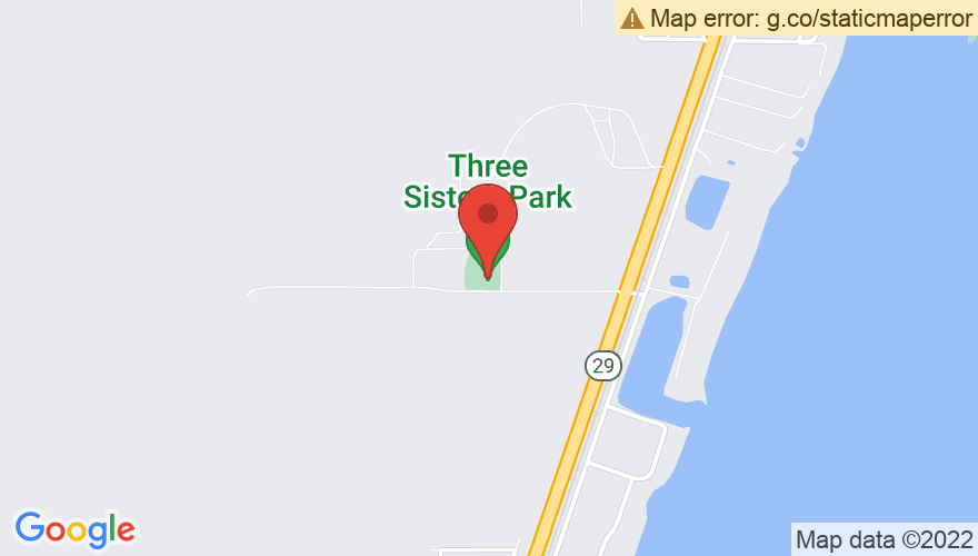 Map for Three Sisters Park