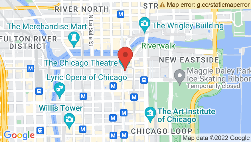 Map for Chicago Theatre