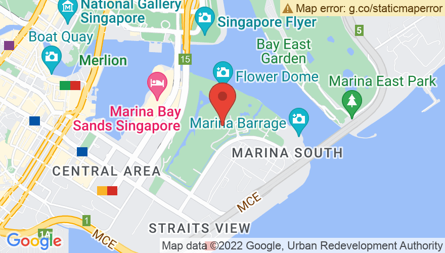 Map for Gardens By The Bay