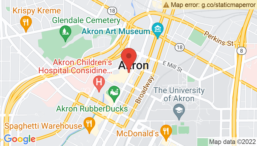 Map for Akron Civic Theater