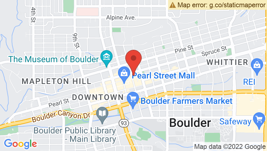 Map for Boulder Theater