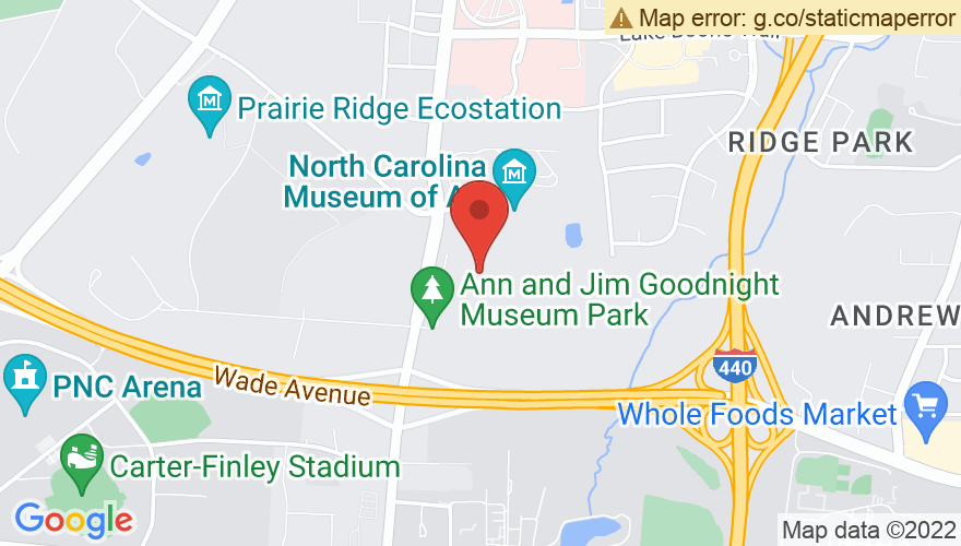Map for North Carolina Museum of Art