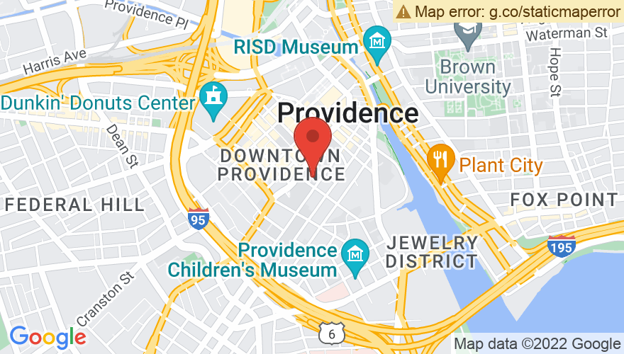 Map for Providence Performing Arts Center