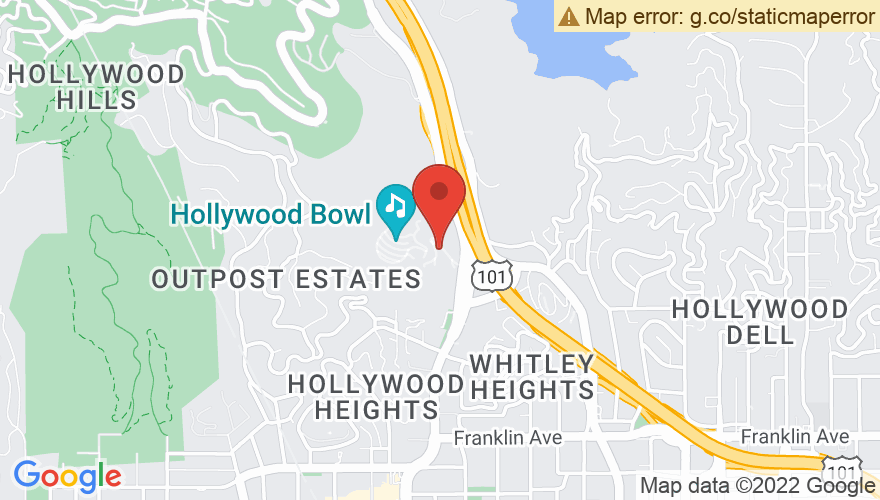 Map for Hollywood Bowl