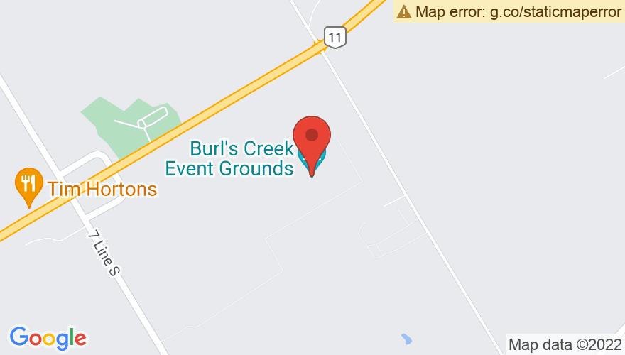 Map for Burl's Creek Event Park