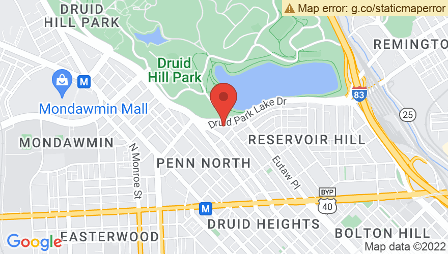 Map for Druid Hill Park
