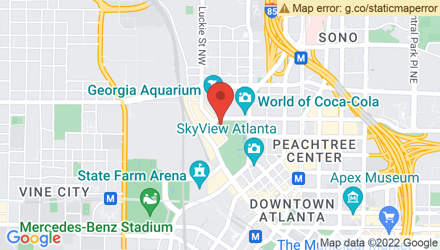 Map for Centennial Olympic Park