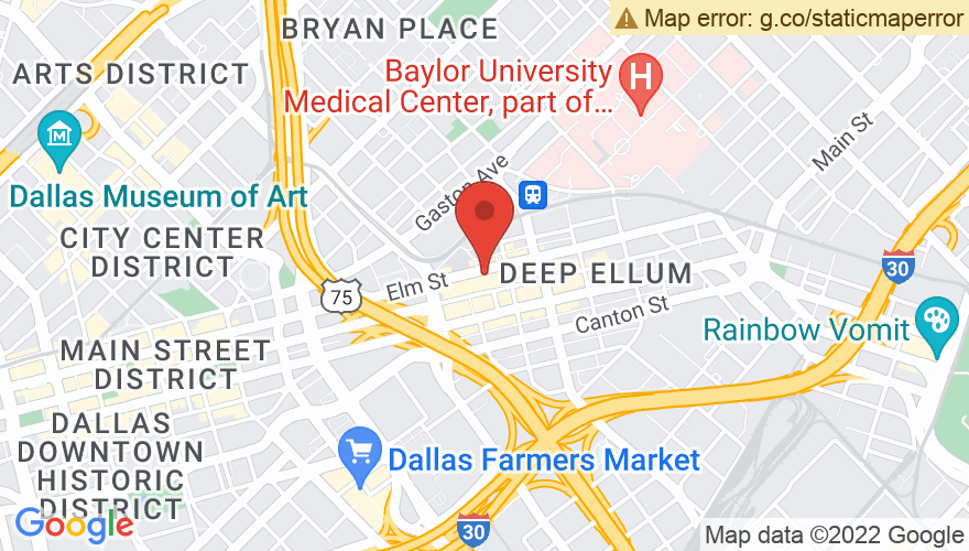 Map for LaGrange, Deep Ellum