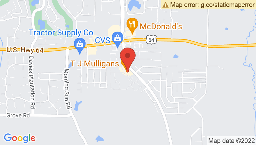 Map for TJ Mulligan's