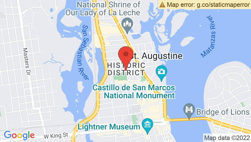 Map for St. Augustine Events Field (Francis Field)