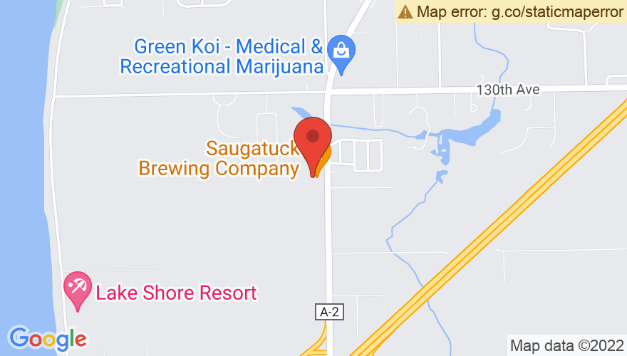 Map for Saugatuck Brewing Company