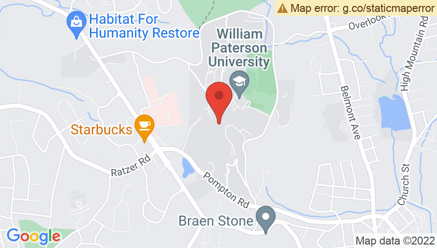 Map for Shea Center at William Paterson University