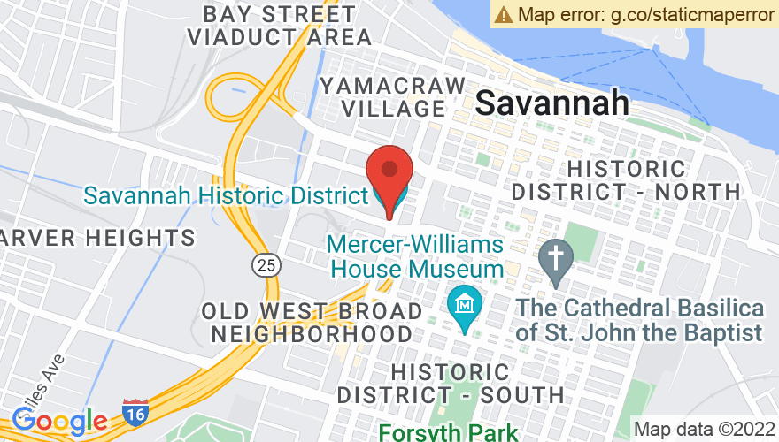 Map for Savannah Historic District