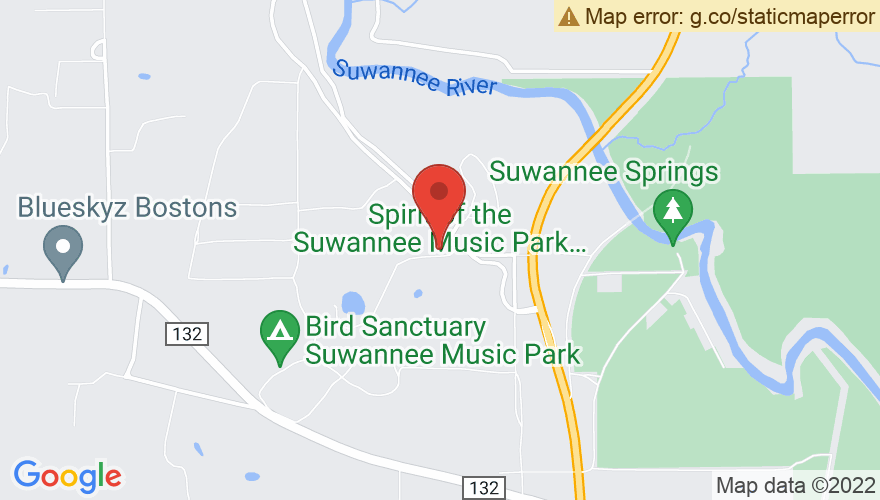Map for Spirit of The Suwannee Music Park
