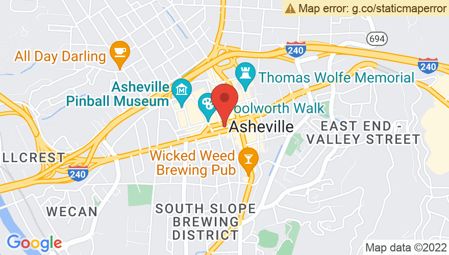 Map for Asheville Music Hall