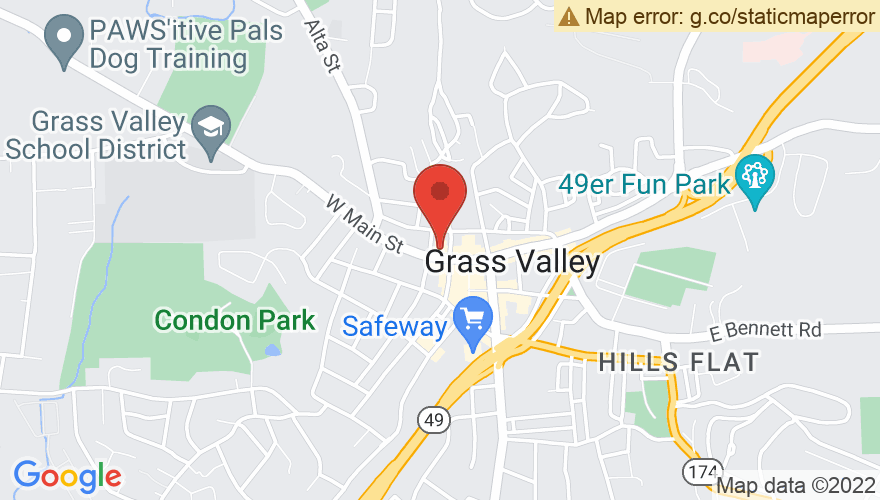 Map for Grass Valley Center For the Arts