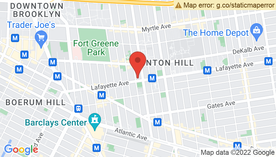 Map for Brooklyn Masonic Temple