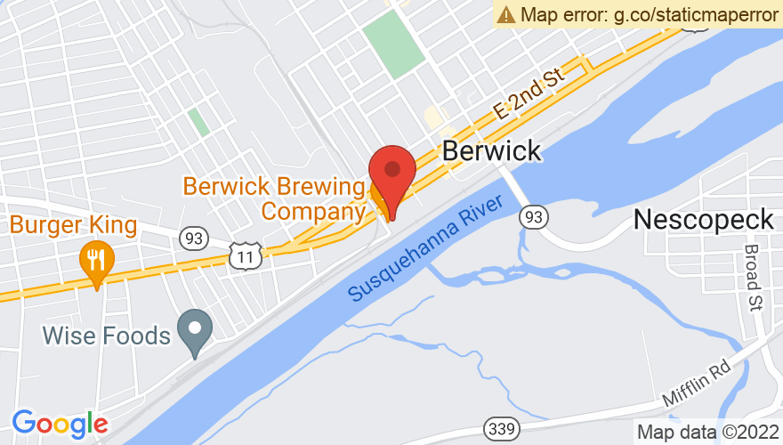 Map for Berwick Brewing Company