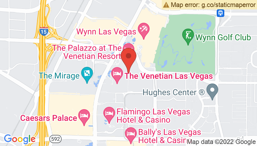 Map for The Venetian