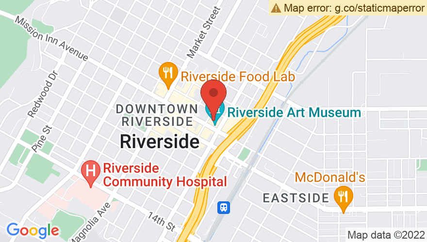Map for Riverside Municipal Auditorium