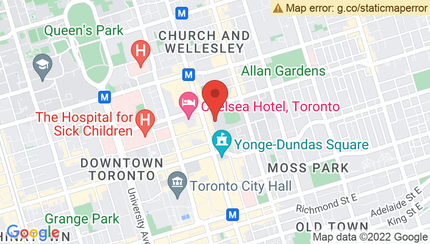 Map for Ryerson University