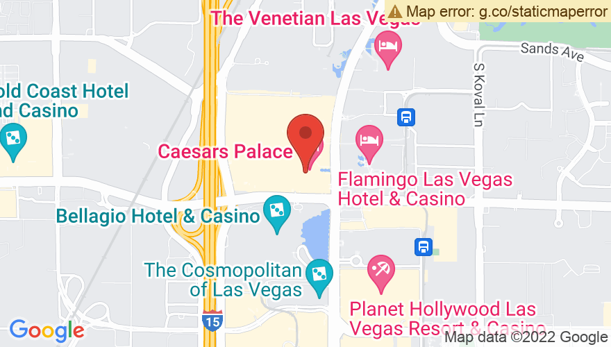 Map for The Colosseum at Caesars Palace
