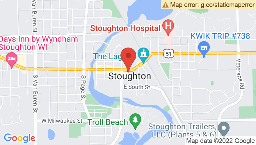 Map for Stoughton Opera House