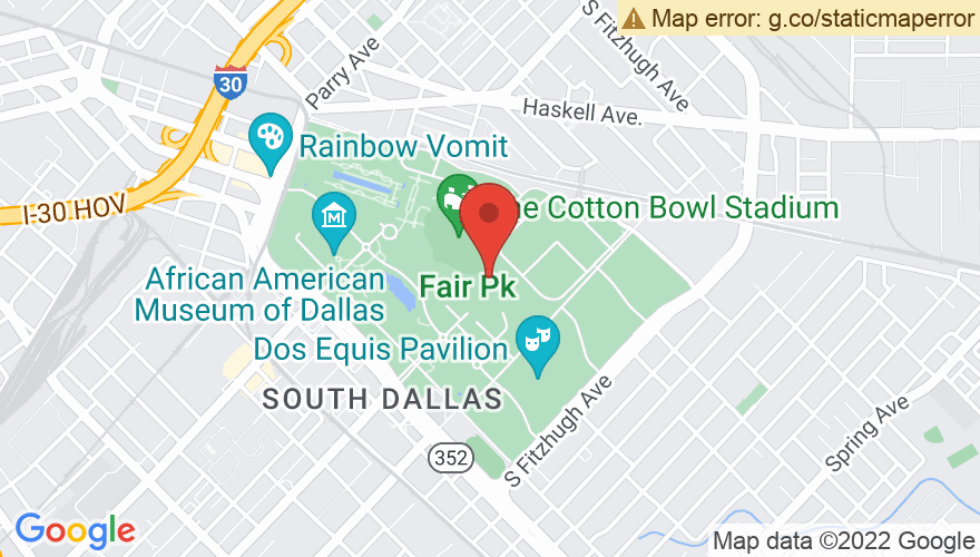 Map for State Fair Of Texas