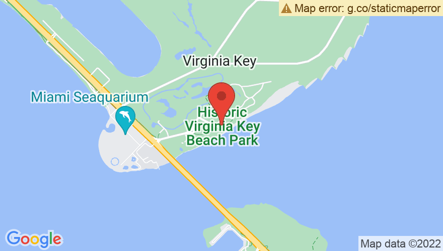 Map for Historic Virginia Key Beach Park