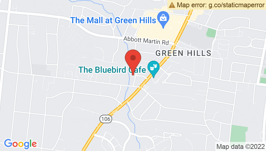 Map for Bluebird Cafe