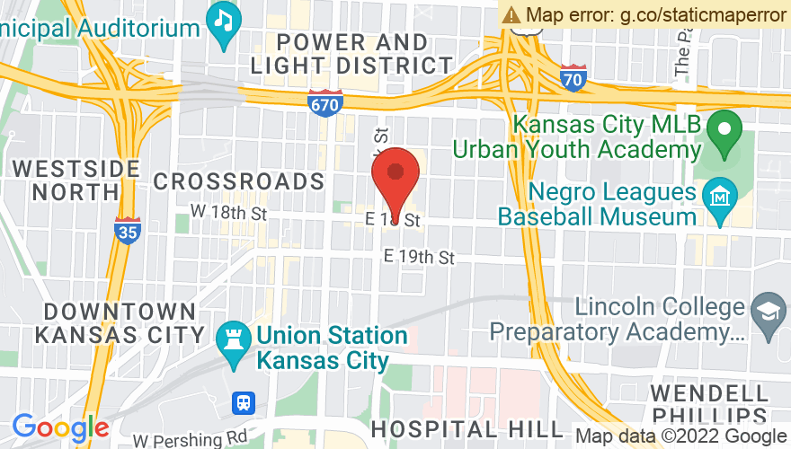 Map for Crossroads KC