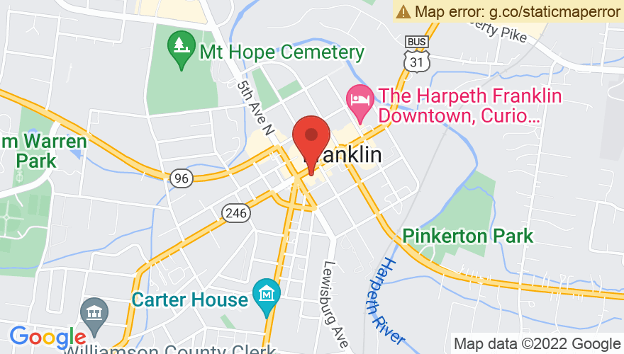 Map for Franklin Theatre