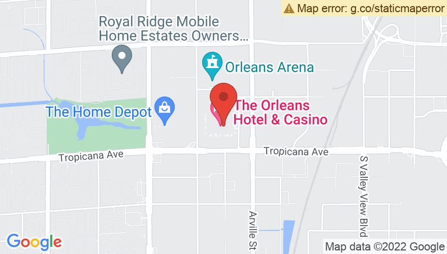 Map for The Orleans Hotel And Casino