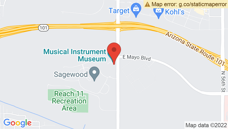 Map for Musical Instrument Museum Music Theatre (MIM)