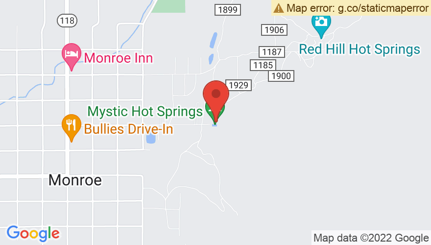 Map for Mystic Hot Springs